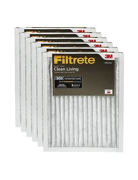 Filtrete Clean Living Basic Dust Ac Furnace Air Filter, Mpr 300, 18 X 24 X 1 Inches, 6 Pack by Filtrete