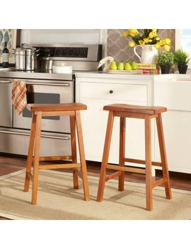 Ashby Bar Stools 29'', Set Of 2, Oak by Weston Home