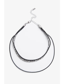 Triple Choker With Chain by Monki
