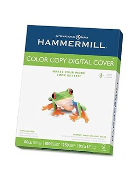Hammermill   Cover Stock, 80lb, 98 Brightness, Letter, White, 250 Sheets by Hammermill