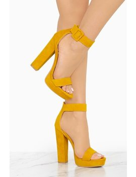New Limits   Yellow by Lola Shoetique