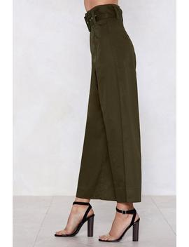 Tighten Your Belt Wide Leg Pants by Nasty Gal