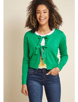 Compania Fantastica Give It A Tie Knit Cardigan In Green Compania Fantastica Give It A Tie Knit Cardigan In Green by Compania Fantastica