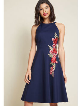 A Lesson In Luxe Embroidered A Line Dress A Lesson In Luxe Embroidered A Line Dress by Modcloth