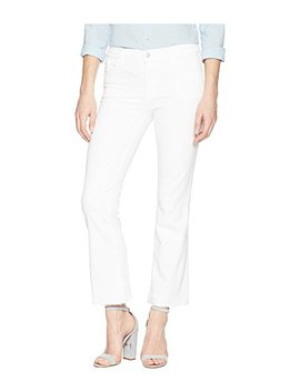 Selena Mid Rise Crop Boot In Blanc by J Brand