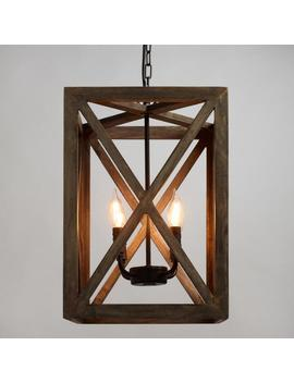 Wood &Amp; Iron Valencia Chandelier by World Market