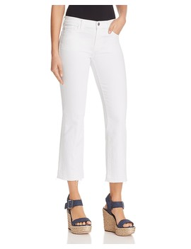 Selena Mide Rise Crop Bootcut Jeans In Blanc by J Brand