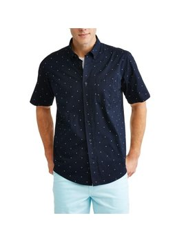 Men's Printed Stretch Woven Shirt by George