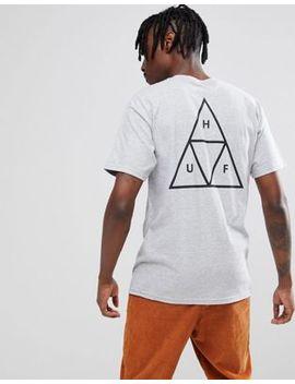 Huf – Graues T Shirt Mit Dreifachem Dreieckssymbol by Huf