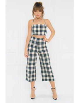 Double Your Luck Set   Navy Plaid by Lola Shoetique