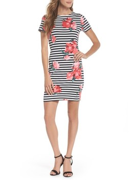 Jude Flower Stripe Knit Dress by French Connection