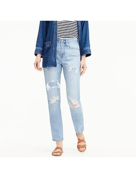 Petite Point Sur High Rise Retro Straight Jean In Light Wash by J.Crew
