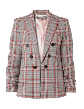 Caldwell Dickey Checked Cotton Blend Blazer by Veronica Beard