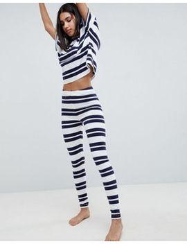 Asos Design Wide Stripe Tee And Legging Pyjama Set by Asos Design