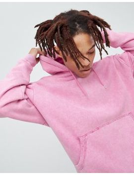 Asos Design Oversized Hoodie In Pink Acid Wash by Asos Design