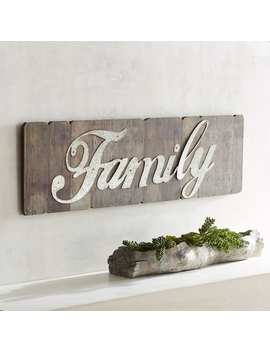 Galvanized Metal Family Planked Wall Plaque by Pier1 Imports