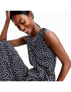 Point Sur Sparkle Jumpsuit In Indigo Floral by J.Crew