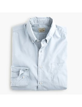 Slim Stretch Secret Wash Shirt In Garment Dyed Solid Poplin by J.Crew