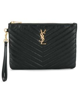 Monogramme Matelassé Pouchhome Women Bags Clutch Bags by Saint Laurent