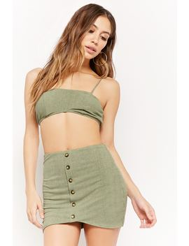 Ribbed Crop Top & Skirt Set by F21 Contemporary