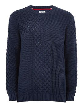 Tommy Jeans Navy 'bold' Jumper by Topman