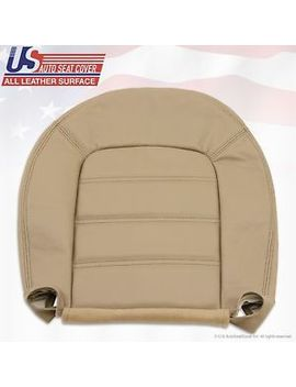 2002 To 2005 Ford Explorer Xlt Driver Bottom Replacement Leather Seat Cover Tan by Us Auto Seat Cover Inc