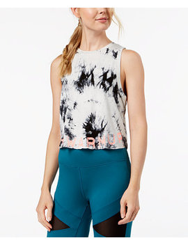 The Warm Up Juniors' Tie Dyed Logo Crop Tank Top by Jessica Simpson