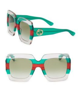Web 54 Mm Oversized Square Sunglasses by Gucci