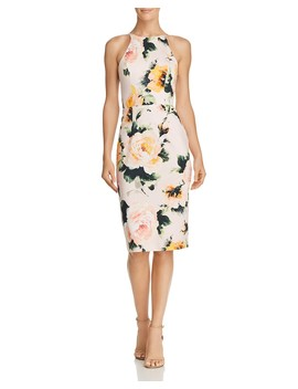Montego Floral Sheath Dress by Black Halo