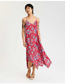 Ae Tassel Back Hanky Hem Maxi Dress by American Eagle Outfitters