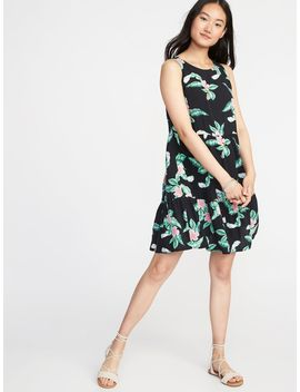 Sleeveless Tiered Trapeze Dress For Women by Old Navy