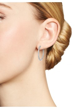 Diamond Inside Out Hoop Earrings In 14 K White Gold, 1.50 Ct. T.W.   100 Percents Exclusive  by Bloomingdale's