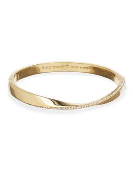 Pavé Twisted Hinged Bangle Bracelet by Kate Spade New York