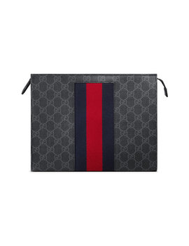 Gg Supreme Web Cosmetic Casehome Women Accessories Make Up Bags by Gucci
