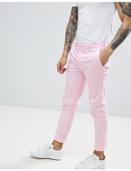 River Island Skinny Cropped Trousers In Pink by River Island