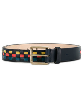 Woven Check Belt by Paul Smith