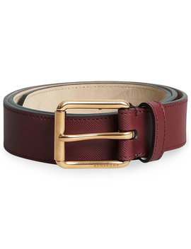Trench Leather Belt by Burberry