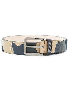 Valentino Garavani Rockstud Camouflage Belt by Valentino