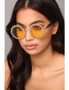 Rising High Sunglasses   Yellow by Fashion Nova