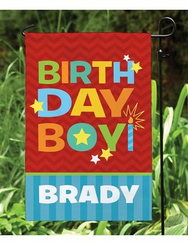 Personalized 'birthday Boy' Garden Flag by Personalized Planet