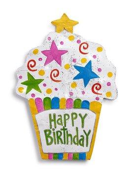 'happy Birthday' Led Cupcake by Silvestri