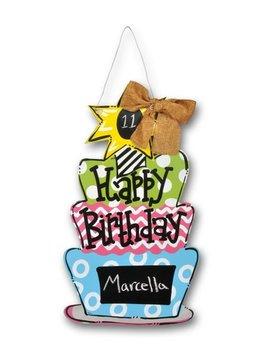 Birthday Cake Chalkboard Door Hanger by Magnolia Lane