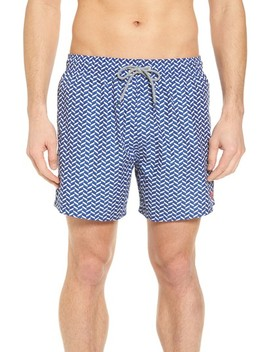 Caven Geo Print Swim Trunks by Ted Baker London