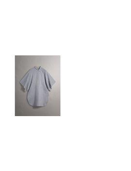 Collar Detail Cotton Silk Kaftan by Burberry