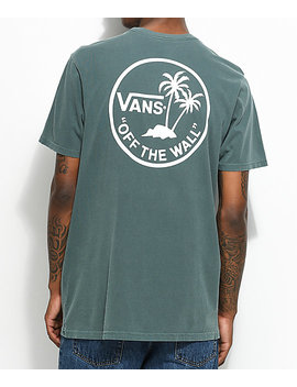 Vans Palm Circle Green &Amp; White T Shirt by Vans
