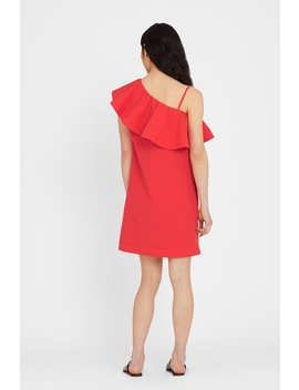 Seersucker One Shoulder Dress by Cuyana