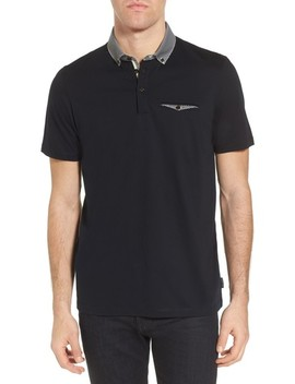 Movey Trim Fit Woven Geo Polo by Ted Baker London