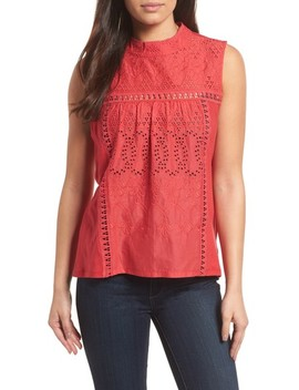 Embroidered High Neck Tank by Caslon®