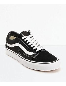 Vans Old Skool Black & White Skate Shoes by Vans