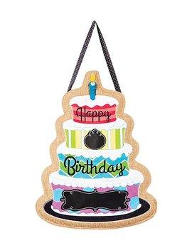 'happy Birthday' Burlap Door Hanger by Zulily